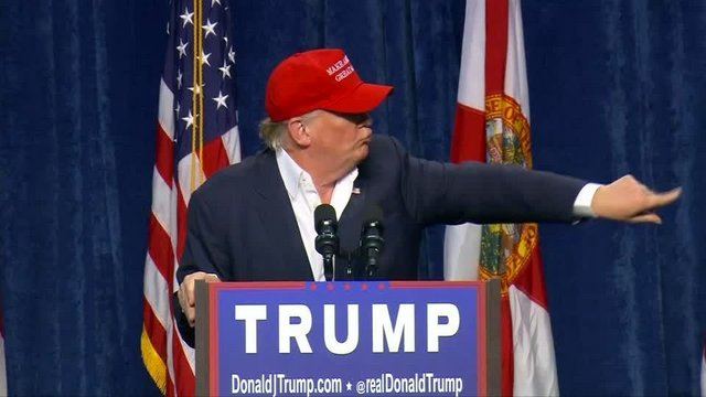 "U.S. Republican presidential candidate Donald Trump has a heckler ""nicely"" escorted out of a campaign rally at the Sarasota, Florida Fairgrounds. Rough Cut (no reporter narration)."