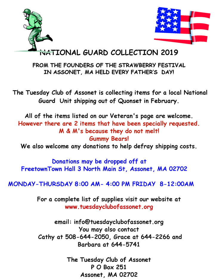 National Guard Collection – Pre-Deployment – Tuesday Club of